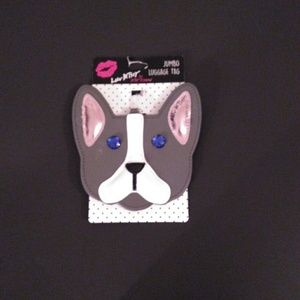 Betsey Johnson French Bulldog Jumbo Luggage Tag